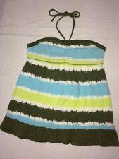 Justice Size 20 Tank Top Sleeveless Blue Green White Tie Dye Summer