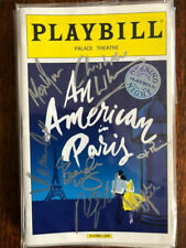 An American in Paris  cast signed playbill Opening Night Broadway New York
