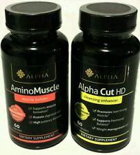 AminoMuscle & Apha Cut HD (60 veggie capsules Testosterone)  .