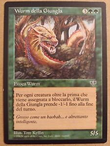 MTG Green Jungle Wurm Della Giungla Portuguese Mirage Magic the Gathering Card