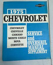 1975 Chevrolet Chevy Chevelle Camaro Monte Carlo Nova Corvette Service manual