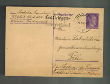1942 Germany Buchenwald Concentration Camp Postcard Cover to Friti P Svoboda