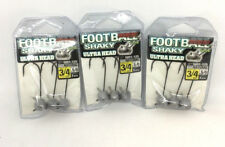 3 PACKS OF OWNER SHAKY FOOTBALL HEAD JIGS - 3/4OZ NATURAL (5051-125)