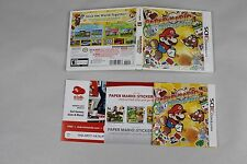 Replacement Case / Manual Paper Mario Sticker Star Nintendo  2DS 3DS XL NO GAME