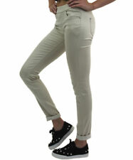 *HUGE SALE* Ladies Pull On Elasticated Waist Long Length Beige Stretchy Trousers