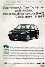 Publicité advertising 1992 Opel Corsa City