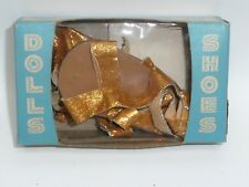 Premier Doll Accessories Co. 1950's Store Stock Gold Dolls Shoes in Box Size 19