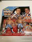 Custom Hasbro WWF WWE British Bulldogs Figures On Custom Card. For Sale