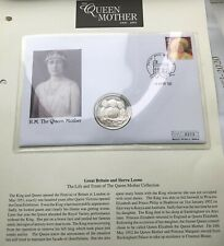 More details for the queen mother crown coin cover 2002 hrh queen elizabeth & fdc first day cover