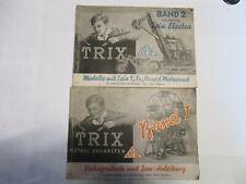 Trix Metallbaukasten, vorlagenbuch + bauanleitung      Band  1 und  band 2