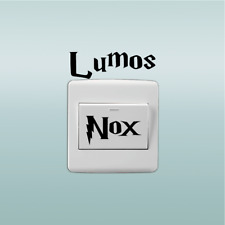 Classic movie Harry Potter switch wall sticker Lumos Nox room home decor