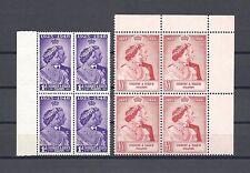 GILBERT & ELLICE ISLANDS 1949 SG 57/8 RSW MNH Blocks of 4 Cat £66