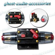 40a Amp Car Audio Circuit Breaker AGU Style Fuse Holder Gold Plated