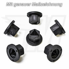 15x Kunststoff Mutter Schutz Verkleidung für VW Opel Ford BMW Audi   90127883