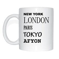 NEW York, London, Paris, Tokyo, Touring Mug Coffee Cup
