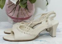 K Cream Pull on Sandals Shoes Size 5