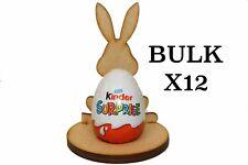 Wooden Mdf Easter Rabbit Craft Kinder Egg Holder Stand Easter Gift Bulk x12