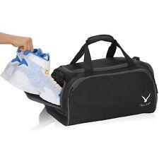 Hynes Eagle 32L Gym Bag Sports Duffel Bags Black 18 inch Travel Carry on Bags