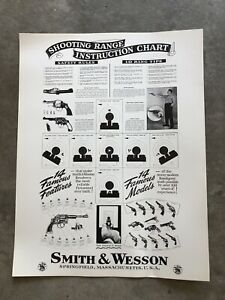 "Original Smith and Wesson Vintage Display Poster 26"" X 20"""