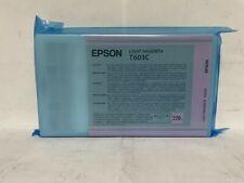 New Genuine Epson T603C Light Magenta 220ml Ink Cartridge In Bag