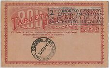 URUGUAY -  POSTAL HISTORY -  STATIONERY with nice postmark - MEDICINE / SCIENCE
