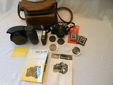 NIKON EM automatic Ultra-Compact Camera 50 MM with 70-210 zoom lens and more