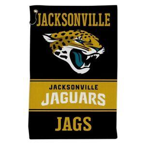"""JACKSONVILLE JAGUARS ALL PURPOSE GOLF TAILGATE TOWEL 16""""X25"""" HOOK AND GROMMET"""