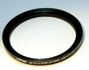 62mm to 67mm  lens ring step Up threaded male to female thin profile wide angle