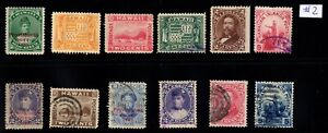 Lot #2 Hawaii United States mint used mixed condition