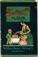 "TIN SIGN ""Washington Flour"" Baking Food Kitchen Mancave Wall Decor"