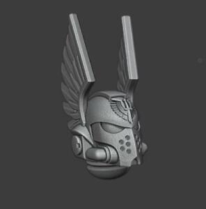 Primaris Winged Helmets - Dark Angels - Set of 10  - Compatible with Warhammer