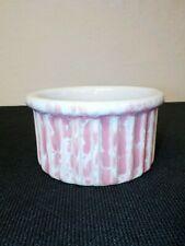 Bennington Potters Pink Agate Small Ribbed Souffle Casserole Dish