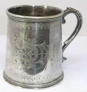 Victorian Silver Plated Christening Mug Tankard