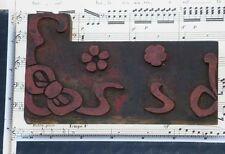 Rare Ornament Letterpress Wooden Printing Block Very Rare Art Nouveau Wood Print