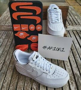 Nike Air Force 1/1 Women's Customisable Trainers, UK Size 3.5, White, RRP £125