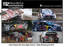 1/43 Rally Decal Addi Ford Fiesta Wrc Ogier Evans Montecarlo 2018 Spark altaya