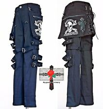 Easy Rock Visual Kei Resident Evil Cyber Punk Rockabilly Skull Waist Patch Pants