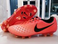Nike Magista Opus II FG ACC Soccer Cleats Crimson/Black Men's SZ ( 843813-807 )