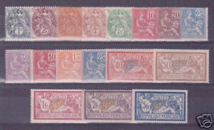 FRANCE STAMPS COMPLETE YEAR 1900 YVERT 107/23 MNH VVF MUST SEE P871E