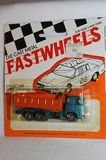 1970's Playart Fast Wheels, Leyland Dump Truck, Orange & Blue,   New on Card
