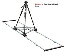 Proaim 12ft Solid Straight Track for Wheel Slider Dolly DSLR DV Video production