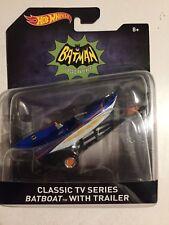 "Hot Wheels~2015~1966 Batman Classic TV Series~""Batboat"" with Trailer~1:50~New~NM"