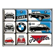 BMW Vintage Cars set of 9 mini fridge magnets   (na)