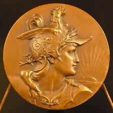 """Médaille République Française Marianne profil droit casqué """"casque coq"""" medal"""