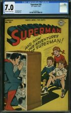"""1946 DC Comics Superman #39 CGC 7.0 """"F/VF"""" Off-White to While Pages """"BEAUTY"""""""