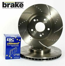 Toyota Celica 1.8 VVT-i Front Dimpled Grooved Brake Discs EBC Pads 274