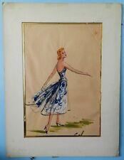 Elois Jenssen - Original 1950's Lucille Ball -Forever Darling Costume Sketch