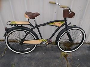 "Huffy 26"" inch Panama Jack Men's Beach Cruiser Bike Black Frame Brown Accents"