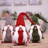 KE_ ALS_ Christmas Swedish Santa Claus Tomte Long Hat Gnome Plush Doll Home De