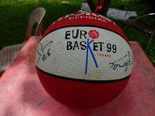 Ball Of Basketball Molten Official Euro 99 Autographed By L' Elan Béarn Pau